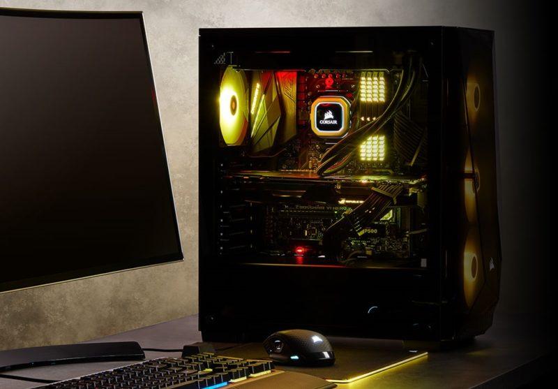 CORSAIR Carbide SPEC-DELTA RGB 550W 80+ Güç Kaynağı Temperli Cam USB 3.0 Mid Tower Kasa