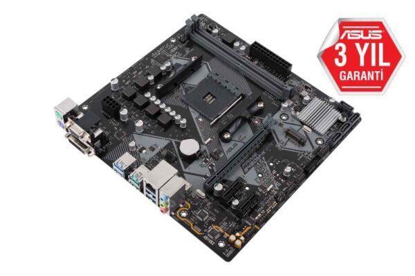 ASUS PRIME B450M-K AMD B450 AM4 DDR4 4400 Mhz M2 USB 3.2 mATX Anakart Anakart en iyi fiyat 2