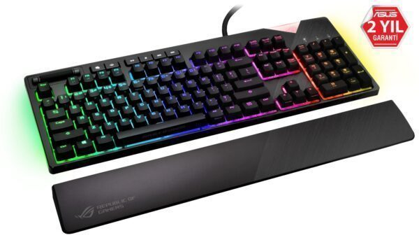 - ASUS ROG Strix Flare RGB Cherry MX Blue Switch Türkçe Mekanik Gaming Klavye