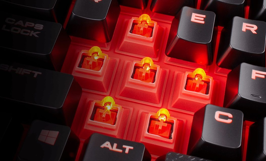 1 corsair gaming k68 red led cherry mx red tr gaming mekanik klavye 4558 - Corsair Gaming K68 Red LED Cherry MX Red TR Gaming Mekanik Klavye