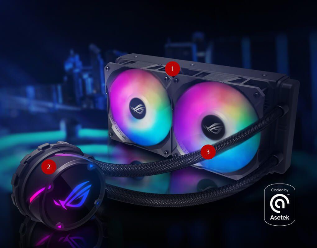 2 4161 - ASUS ROG STRIX LC 240 RGB 240mm İşlemci Sıvı Soğutucu