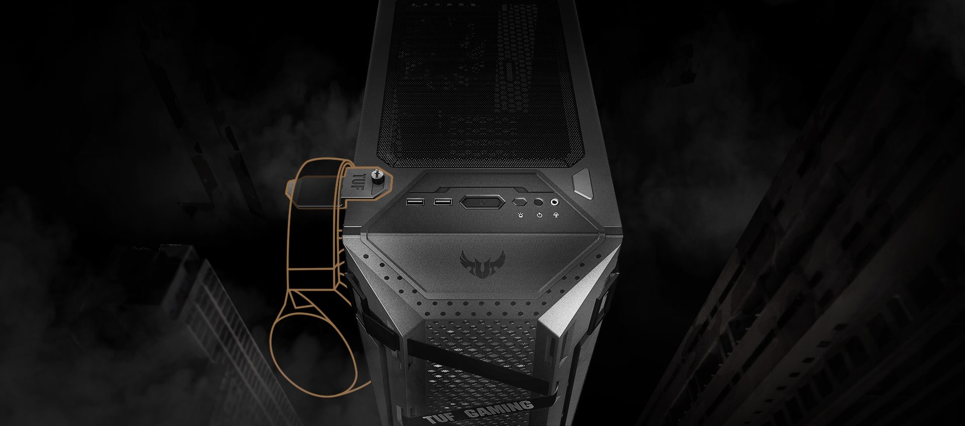 2 asus tuf gaming gt301 rgb tempered glass usb 3 2 mid tower kasa 4298 - ASUS TUF GAMING GT301 RGB Tempered Glass USB 3.2 Mid Tower Kasa
