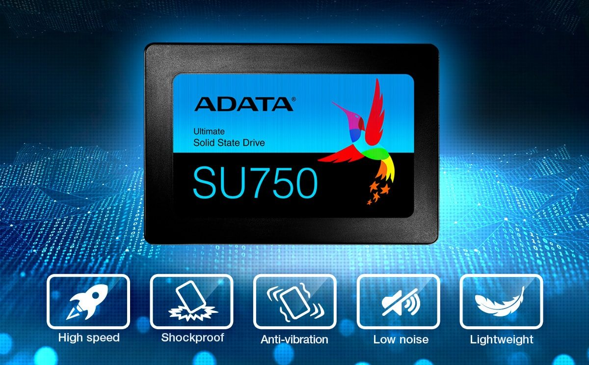 Adata Ultimate SU750 512GB 550MB-520MB/s Sata3 2.5'' SSD