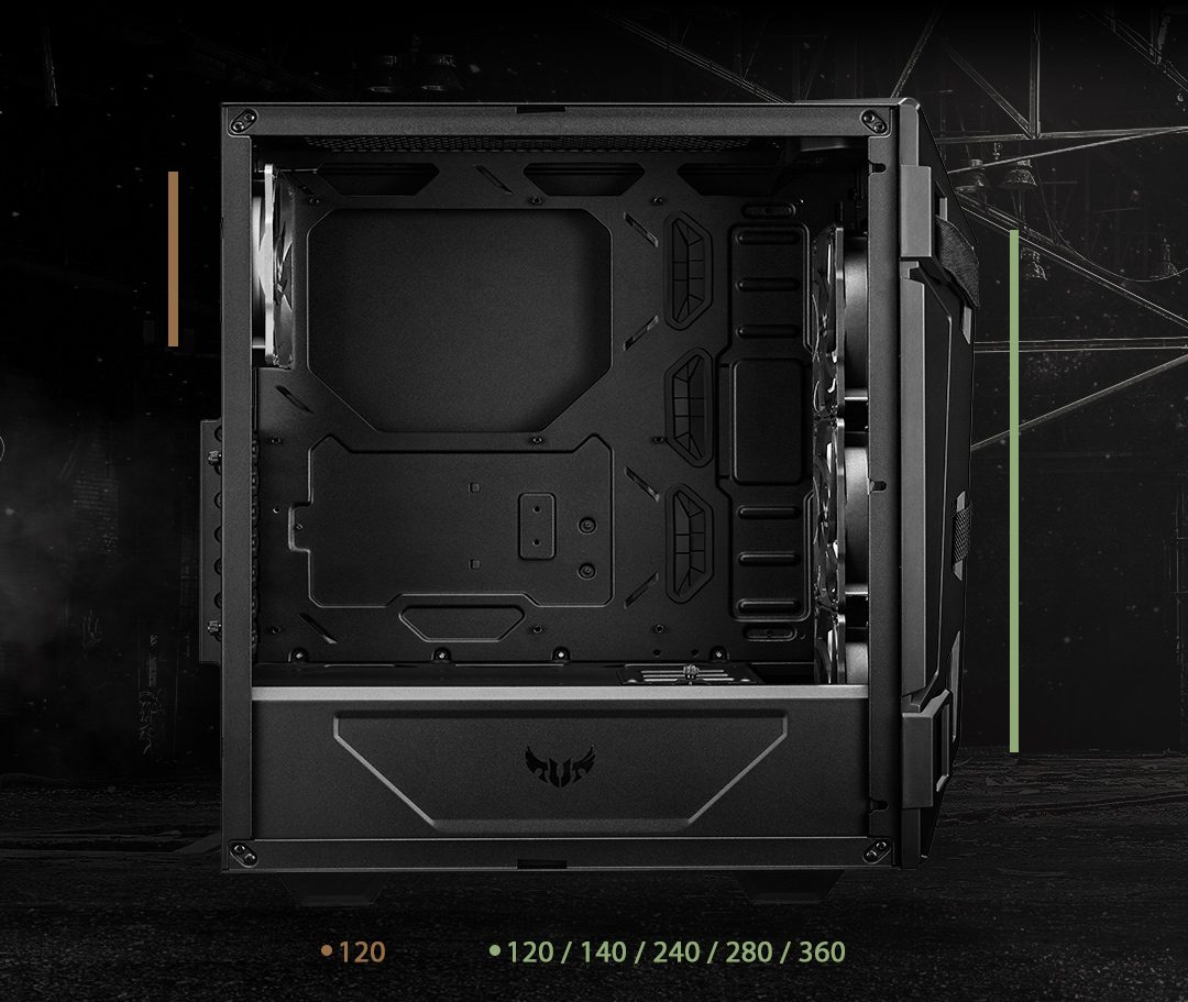 4 asus tuf gaming gt301 rgb tempered glass usb 3 2 mid tower kasa 4298 - ASUS TUF GAMING GT301 RGB Tempered Glass USB 3.2 Mid Tower Kasa