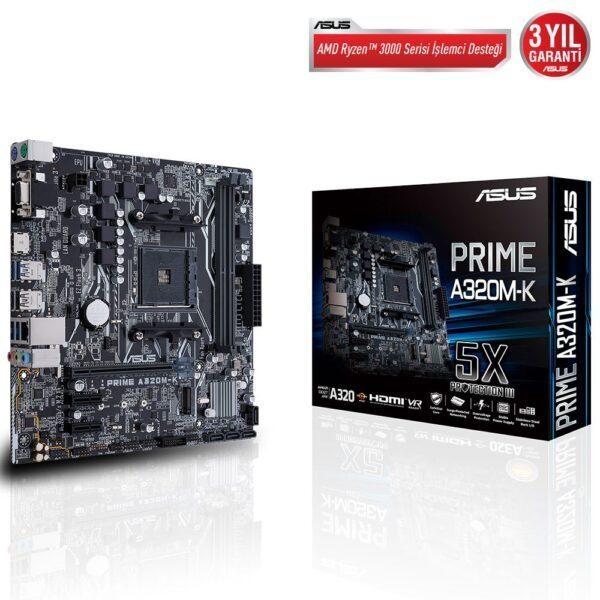 Asus PRIME A320M-K 3200MHz(OC) DDR4 Soket AM4 M.2 HDMI VGA mATX Anakart