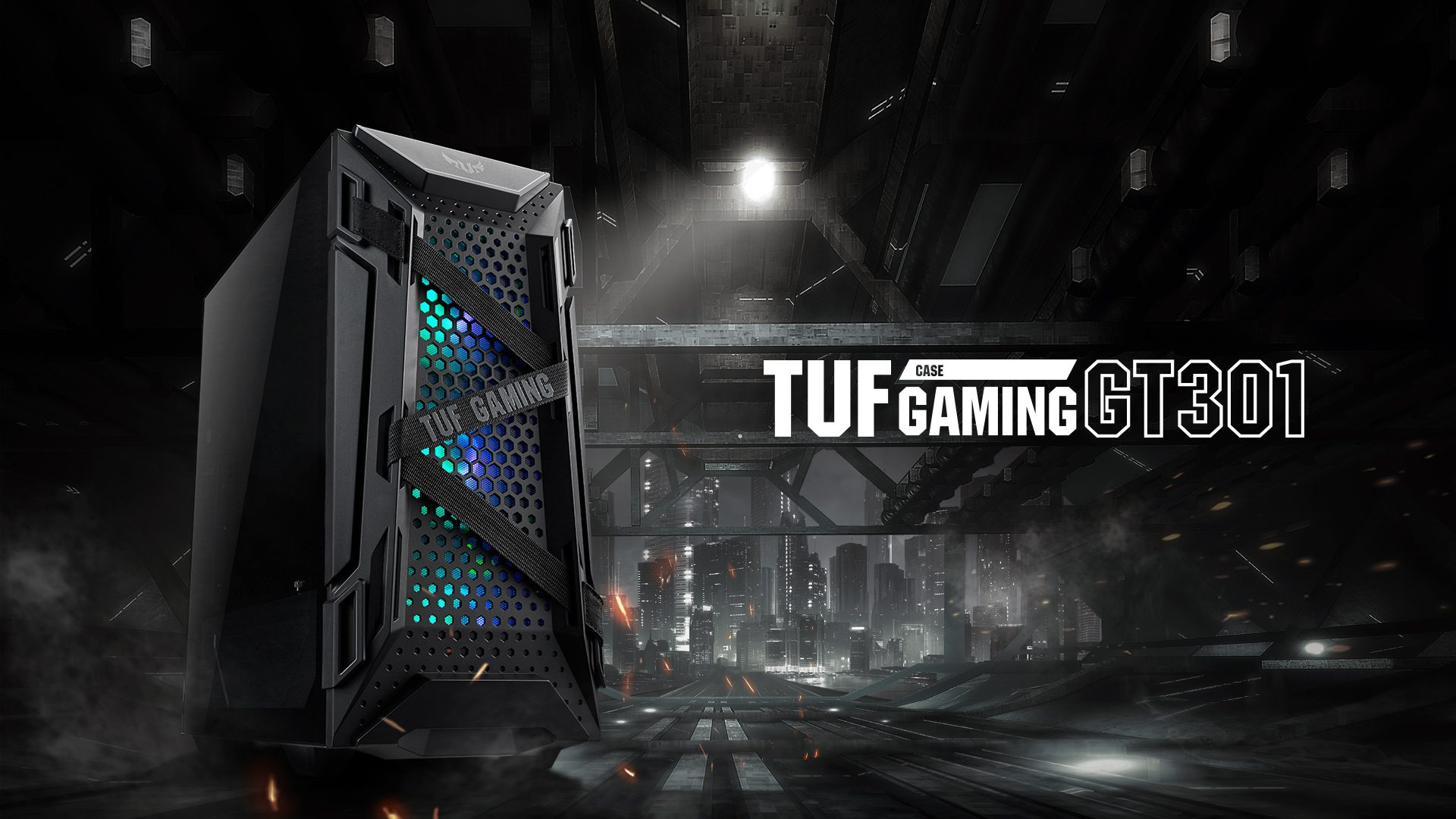 asus tuf gaming gt301 rgb tempered glass usb 3 2 mid tower kasa 4298 - ASUS TUF GAMING GT301 RGB Tempered Glass USB 3.2 Mid Tower Kasa