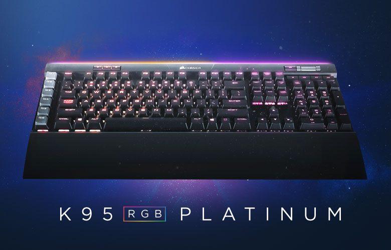 Corsair Gaming K95 RGB Platinum Cherry MX Brown TR Mekanik Gaming Klavye