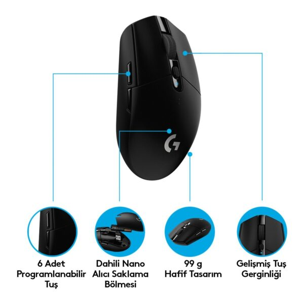 Logitech G305 Lightspeed Wireless Oyuncu Mouse 910-005283