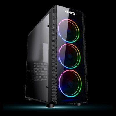 Vento VG04F USB 3.0 Temperli ATX Mid-Tower RGB Gaming Kasa