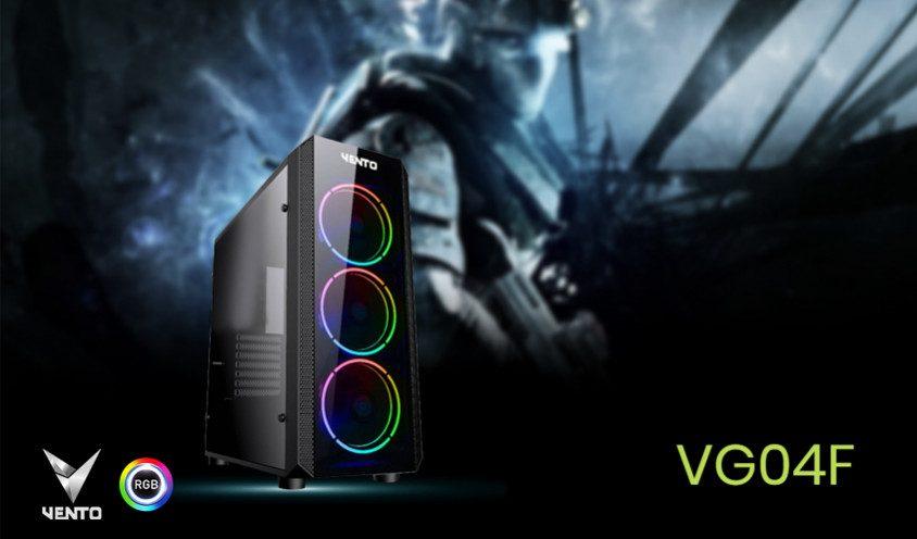 vento vg04f usb 3 0 temperli atx mid tower gaming kasa 500w 5906 - Vento VG04F USB 3.0 Temperli ATX Mid-Tower Gaming Kasa