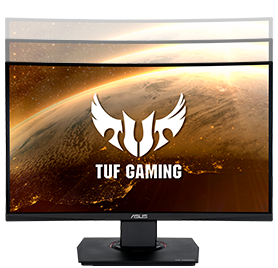 "17 asus tuf gaming vg24vq 23 6 144hz 1ms 2xhdmi dp freesync curved gaming monitor 13557 - ASUS TUF GAMING VG24VQ 23.6"" 144Hz 1ms Display Port HDMI Freesync Curved Gaming Monitör"