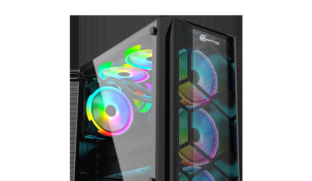1 performax hellfire siyah temperli cam rgb atx 550w 80 kasa 12723 - Performax Hellfire Siyah Temperli Cam RGB ATX 550W 80+ Kasa