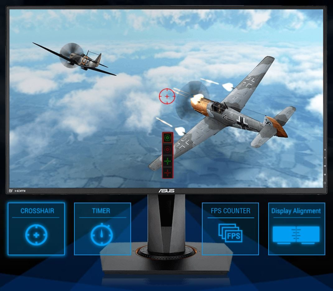 "ASUS VG278QR 27"" 165Hz 0.5ms DVI-D HDMI DP Freesync ve G-sync Uyumlu Gaming Monitör"
