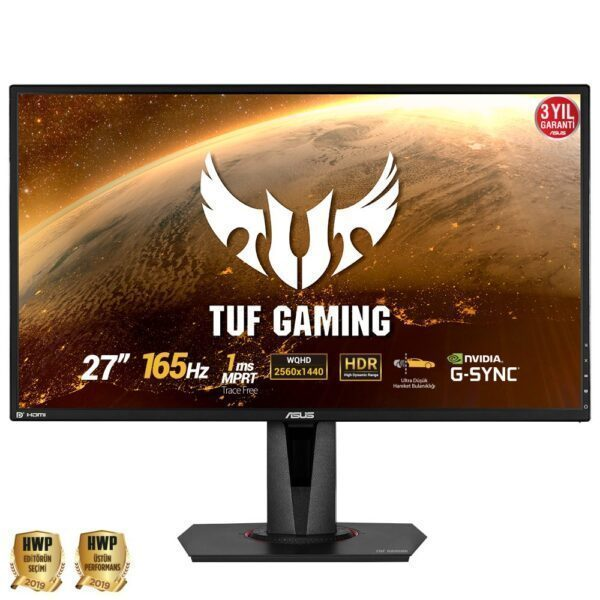 "asus tuf gaming vg27aq 27 165hz 1ms 2xhdmi dp wqhd hdr ips g sync uyumlu gaming monitor - ASUS TUF GAMING VG27AQ 27"" 2560x1440 WQHD 165Hz 1ms HDMI DP HDR IPS G-Sync Uyumlu Gaming Monitör"