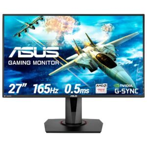 ASUS VG278QR 27″ 165Hz 0.5ms DVI-D HDMI DP Freesync ve G-sync Uyumlu Gaming Monitör - Monitör