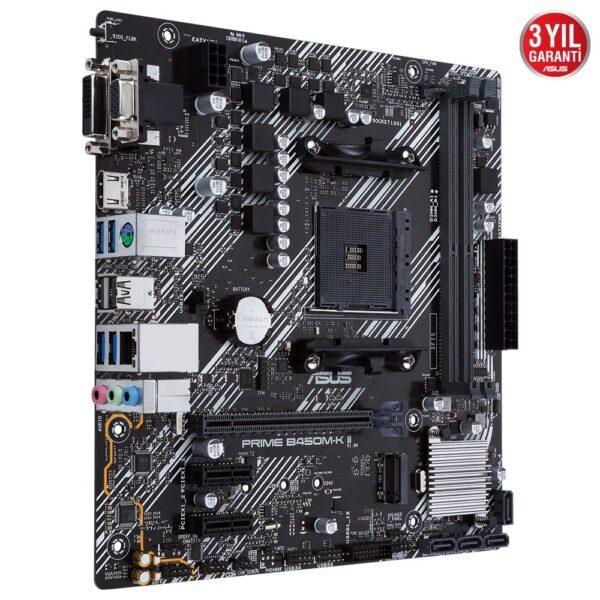ASUS PRIME B450M-K II AMD AM4 4400MHz (OC) DDR4 VGA DVI-D HDMI M.2 mATX Anakart - Anakart 3