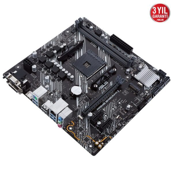 ASUS PRIME B450M-K II AMD AM4 4400MHz (OC) DDR4 VGA DVI-D HDMI M.2 mATX Anakart - Anakart 4