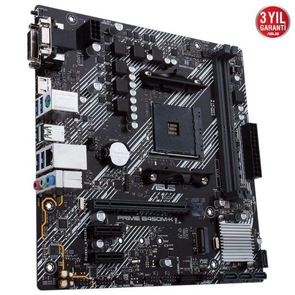 ASUS PRIME B450M-K II AMD AM4 4400MHz (OC) DDR4 VGA DVI-D HDMI M.2 mATX Anakart - Anakart 5