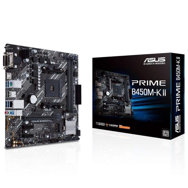 asus prime b450m k ii 4400mhz oc ddr4 soket am4 d sub dvi d hdmi m 2 matx anakart - ASUS PRIME B450M-K II AMD AM4 4400MHz (OC) DDR4 VGA DVI-D HDMI M.2 mATX Anakart