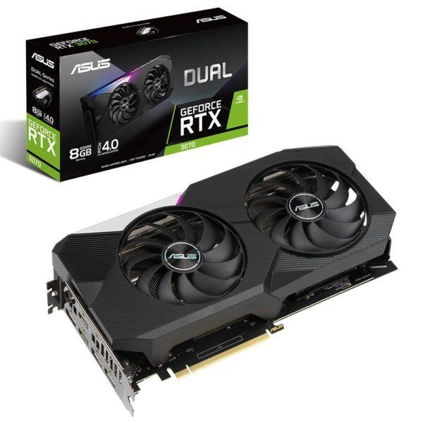 ASUS DUAL GeForce RTX 3070 8GB GDDR6 256Bit Ekran Kartı