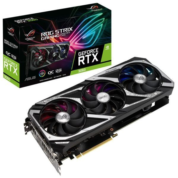 ASUS GeForce ROG STRIX RTX 3060 12GB GDDR6 192bit RGB Ekran Kartı - Ekran Kartı