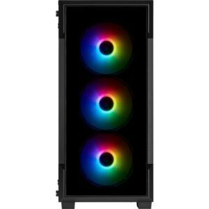 CORSAIR iCUE 220T RGB Tempered Glass USB 3.1 Siyah Mid Tower Kasa Kasa en iyi fiyat