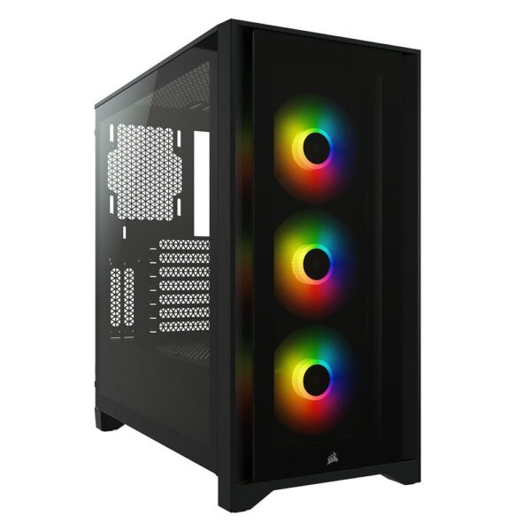 CORSAIR iCUE 4000X RGB Tempered Glass Siyah Mid Tower Kasa - Kasa