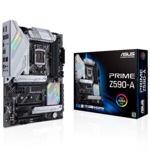 ASUS PRIME Z590-A Intel Z590 Soket 1200 DDR4 5333MHz(OC) M.2 Anakart - Anakart