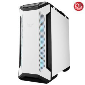 ASUS TUF Gaming GT501 White Edition RGB Tempered Glass Mid Tower Kasa Kasa en iyi fiyat