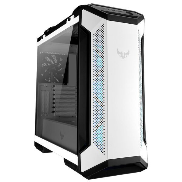 ASUS TUF Gaming GT501 White Edition RGB Tempered Glass Mid Tower Kasa - Kasa