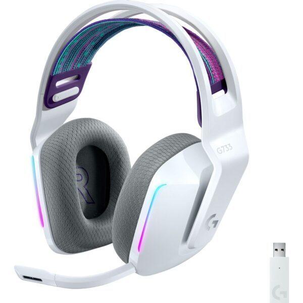 Logitech G G733 Kablosuz RGB 7.1 Surround Ses Oyuncu Kulaklığı – Beyaz - Kulaklık