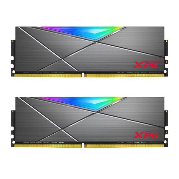 XPG 16GB (2x8GB) Spectrix D50 RGB 3200MHz CL16 DDR4 Dual Kit Ram