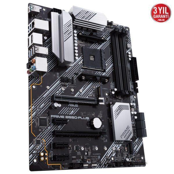 ASUS PRIME B550-PLUS 4600MHz(OC) DDR4 Soket AM4 M.2 DP HDMI ATX Anakart Anakart en iyi fiyat 4