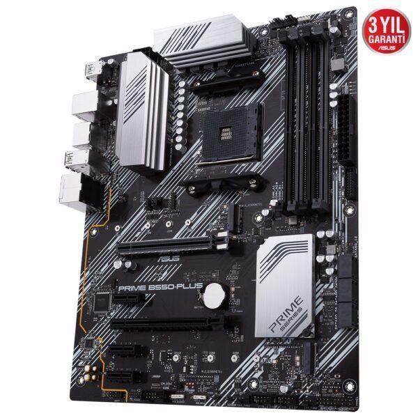 ASUS PRIME B550-PLUS 4600MHz(OC) DDR4 Soket AM4 M.2 DP HDMI ATX Anakart Anakart en iyi fiyat 5