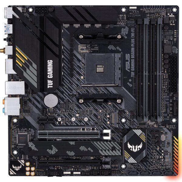 ASUS TUF GAMING B550M-PLUS (WI-FI) 4600MHz(OC) DDR4 Soket AM4 HDMI DP mATX Anakart Anakart en iyi fiyat 2