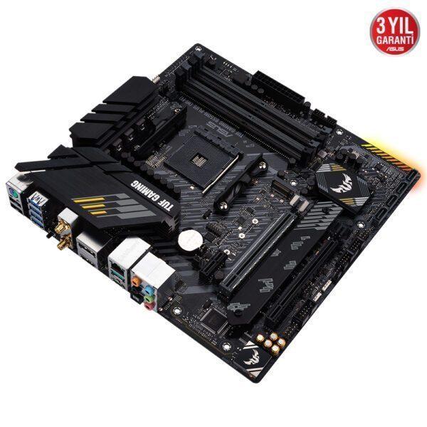 ASUS TUF GAMING B550M-PLUS (WI-FI) 4600MHz(OC) DDR4 Soket AM4 HDMI DP mATX Anakart Anakart en iyi fiyat 5