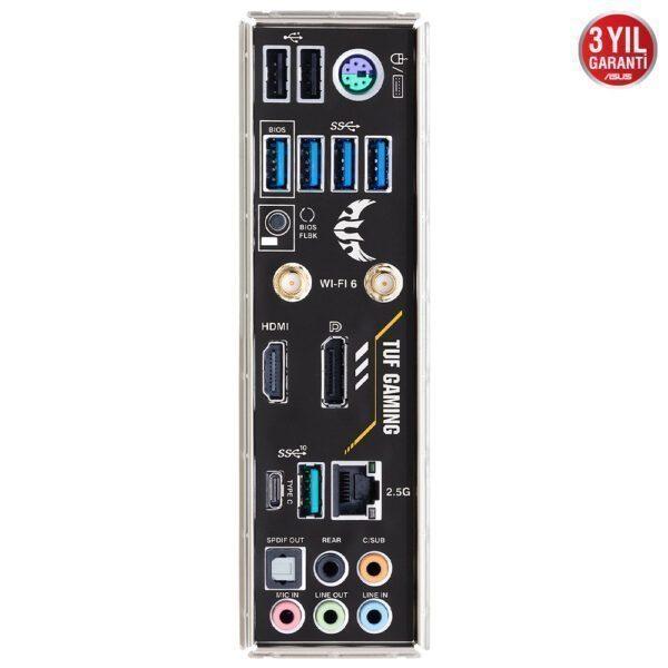ASUS TUF GAMING B550M-PLUS (WI-FI) 4600MHz(OC) DDR4 Soket AM4 HDMI DP mATX Anakart Anakart en iyi fiyat 6
