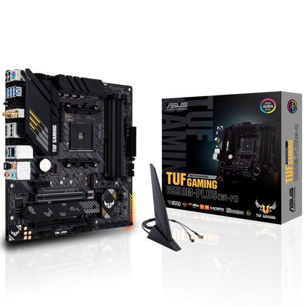 ASUS TUF GAMING B550M-PLUS (WI-FI) 4600MHz(OC) DDR4 Soket AM4 HDMI DP mATX Anakart Anakart en iyi fiyat
