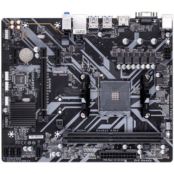 GIGABYTE B450M H 3600MHz(OC) DDR4 Soket AM4 M.2 VGA HDMI mATX Anakart Anakart en iyi fiyat 2