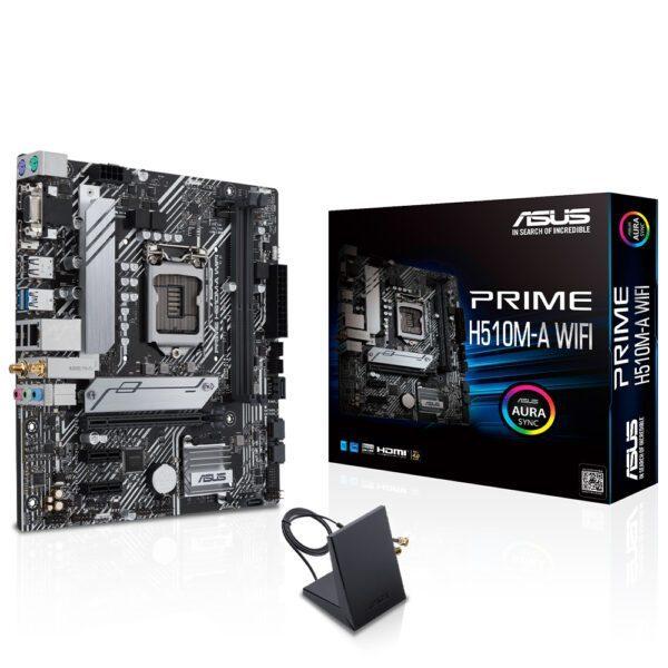 ASUS PRIME H510M-A  3200MHz DDR4 Soket 1200 M.2 WIFI mATX Anakart Anakart en iyi fiyat