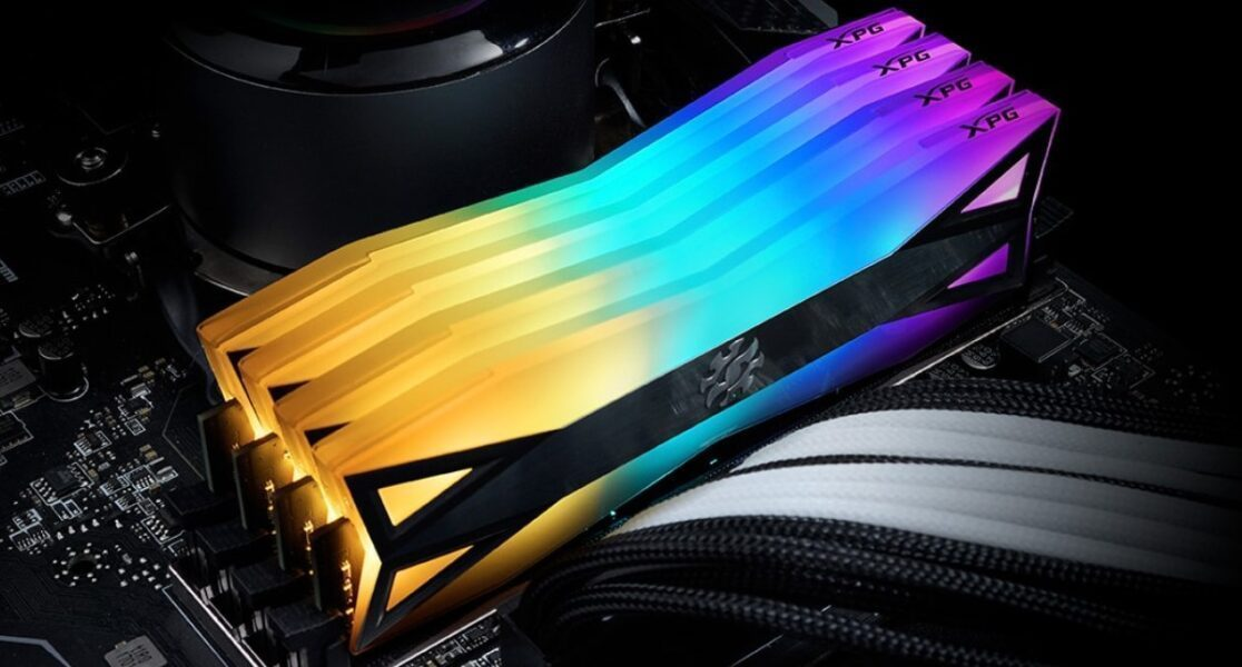 XPG 8GB Spectrix D60G RGB Gri 3200MHz CL16 DDR4 Single Kit Ram