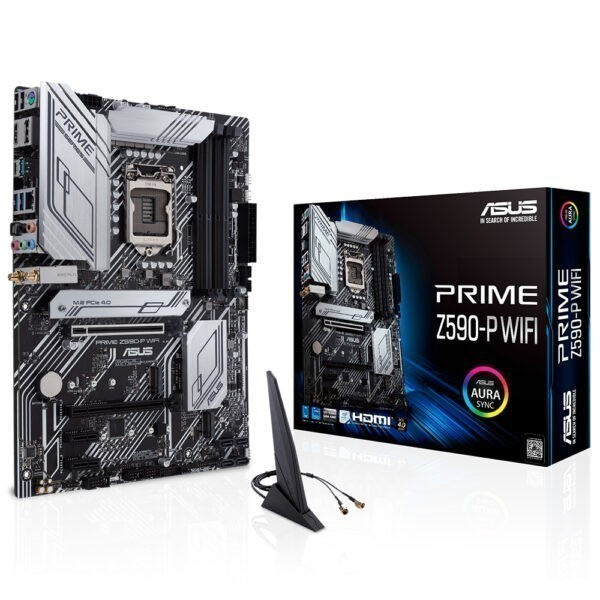 Asus Prime Z590 P Wifi 5133ocmhz Ddr4 Soket 1200 M 2 Hdmi Dp Atx Anakart