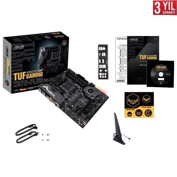 Asus Tuf Gaming X570 Plus Wi Fi 4400mhz Oc Ddr4 Soket Am4 M 2 Atx Anakart 5