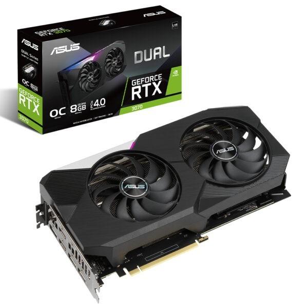 Asus Dual Geforce Rtx 3070 V2 Oc 8gb Gddr6 256bit Ekran Karti