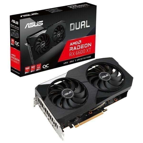 Asus Radeon Rx 6600 Xt Dual Oc 8gb Gddr6 128 Bit Ekran Karti